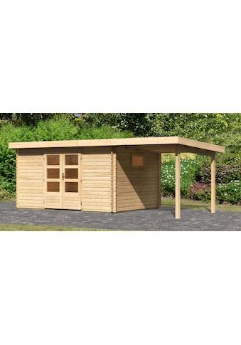 WOODFeeling Gartenhaus »Trittau 5«, mit Anbaudach kaufen