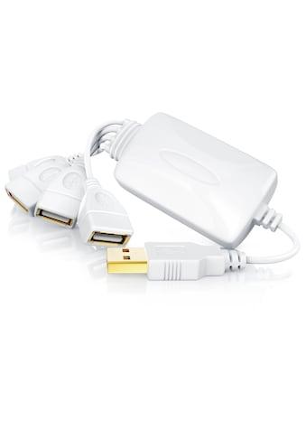 CSL 4 Port USB 2.0 Verteiler Kabel »Plug & Play / Hot Plugin / 4 - fach USB HUB« kaufen