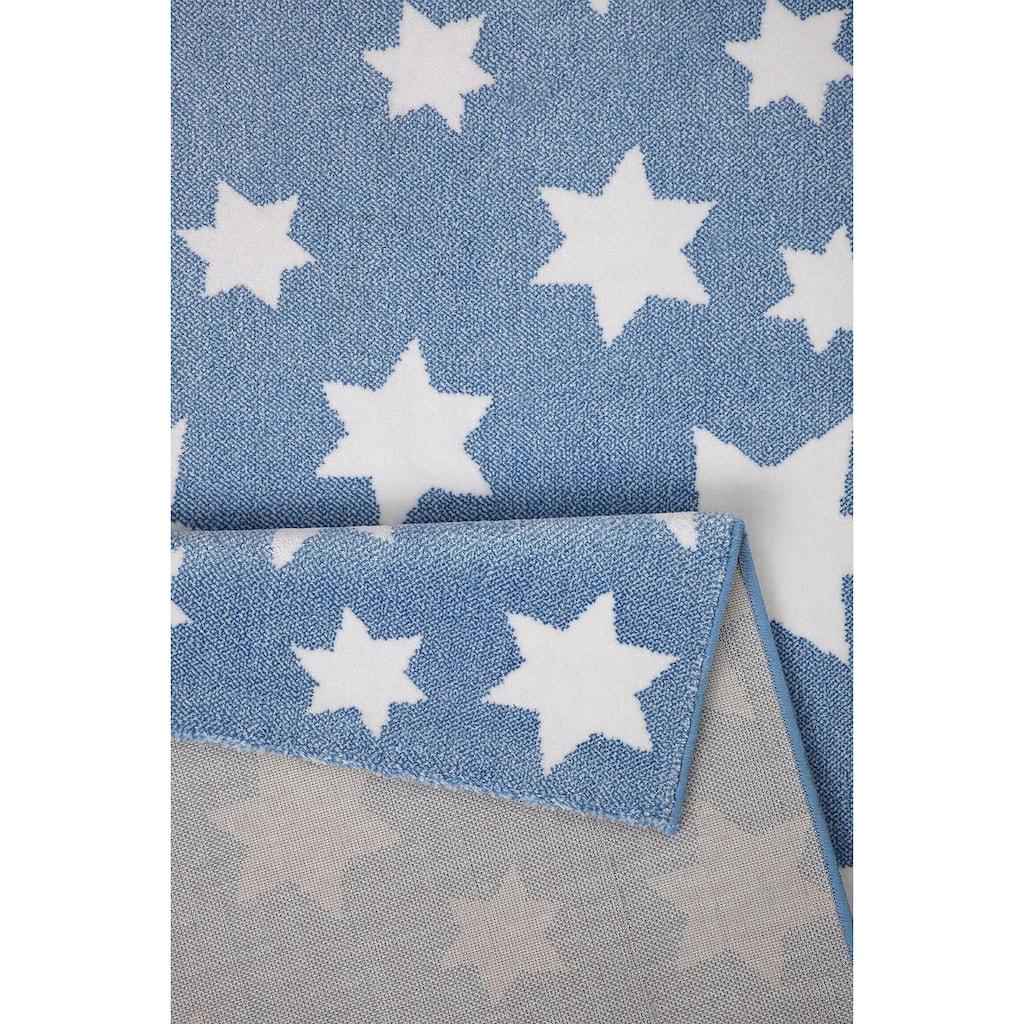Wecon home Kinderteppich »Jeans Star«, rechteckig, 8 mm Höhe, Sterne