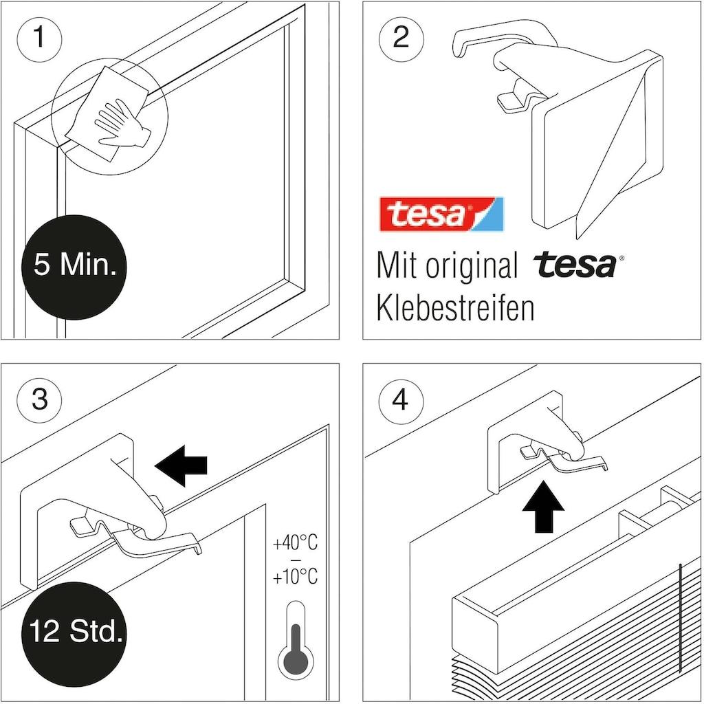 GARDINIA Sichtschutzbefestigung »Klebeträger-Set«, Serie Aluminium-Jalousien 25 mm
