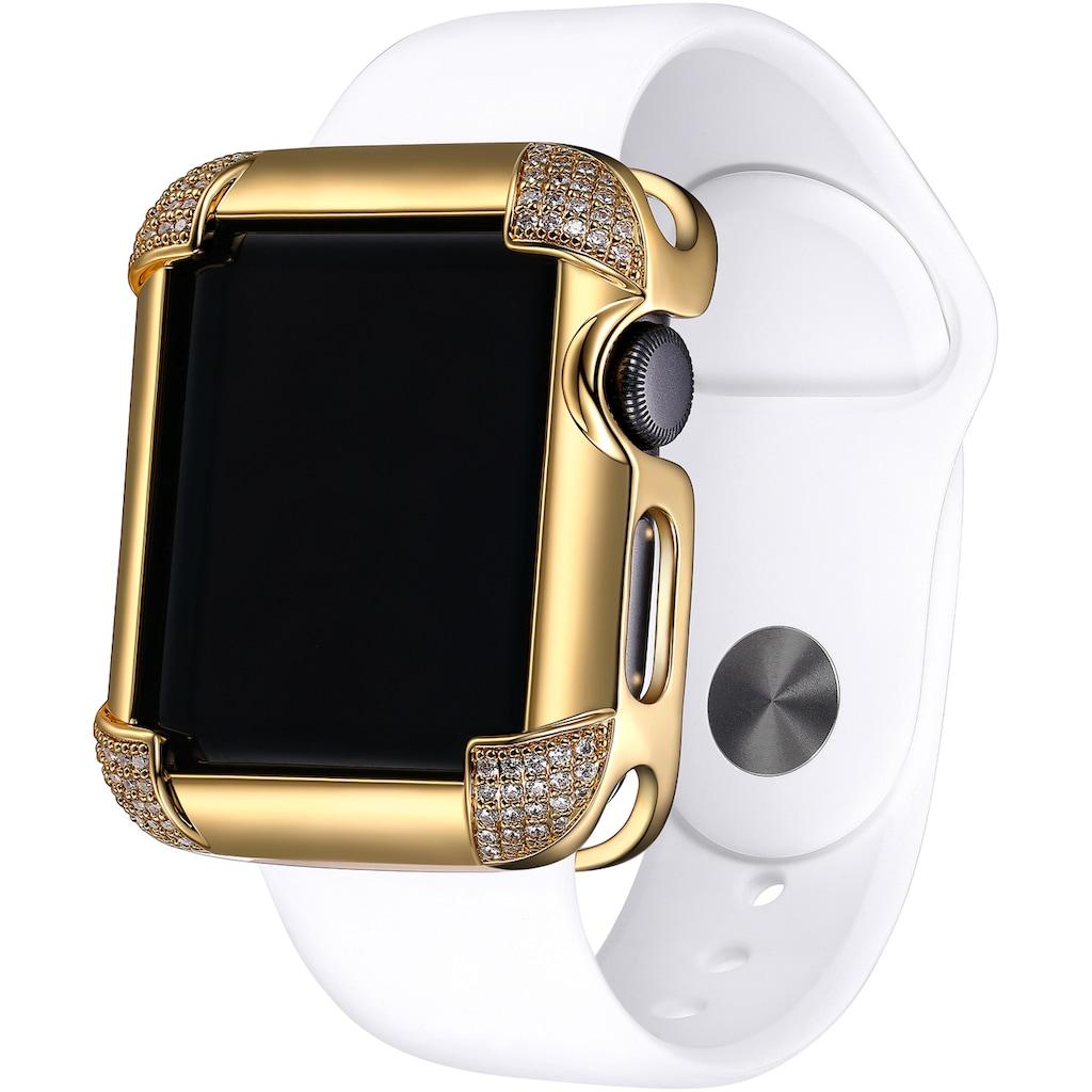 SKY•B Smartwatch-Hülle »PAVÉ CORNERS, W002G38, 38 mm«, Watch