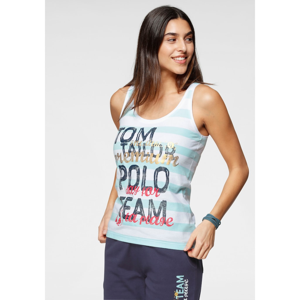 TOM TAILOR Polo Team Tanktop, mit großem Logo-Druck