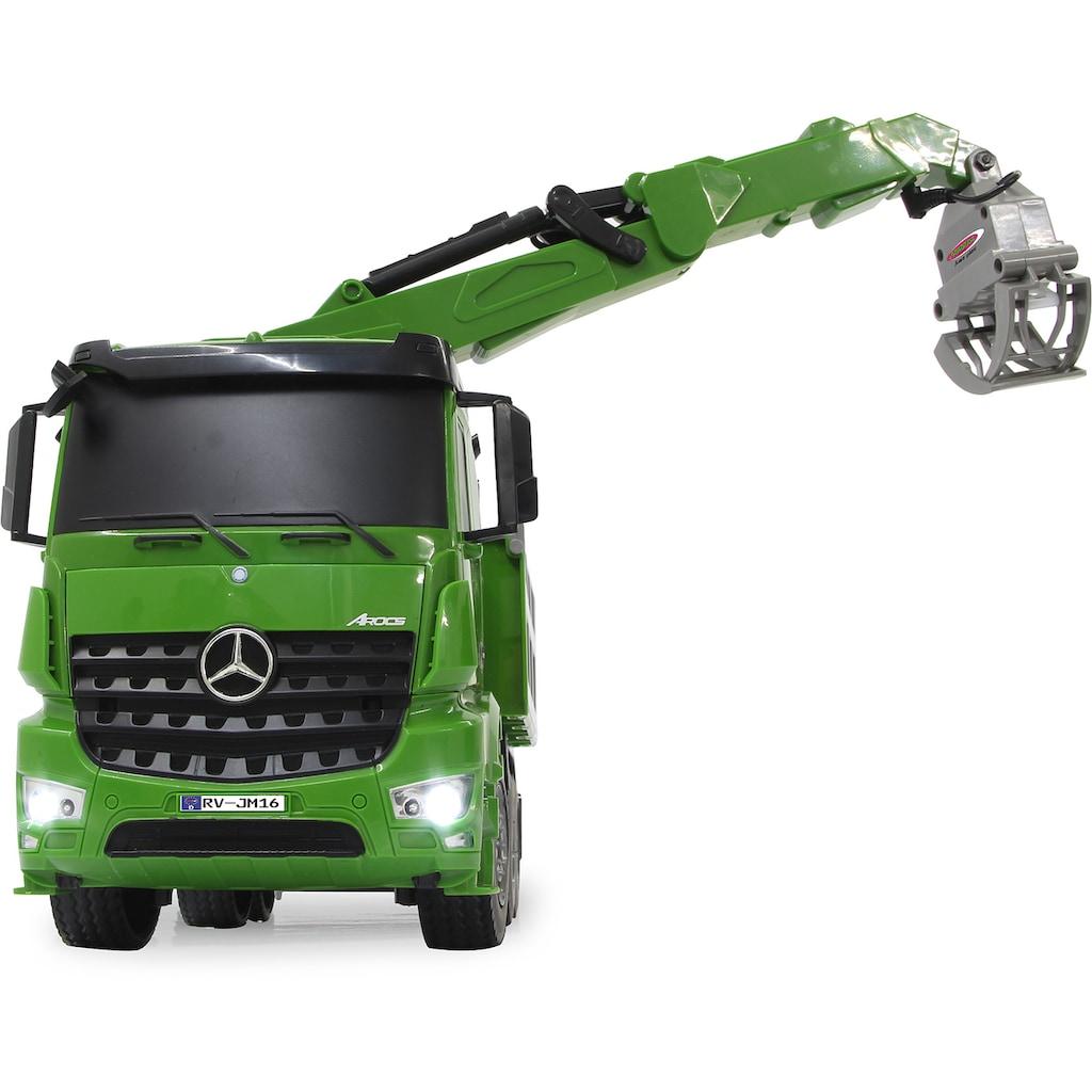 Jamara RC-LKW »Holztransporter Mercedes-Benz Arocs 1:20 - 2,4 GHz«, mit Licht & Sound