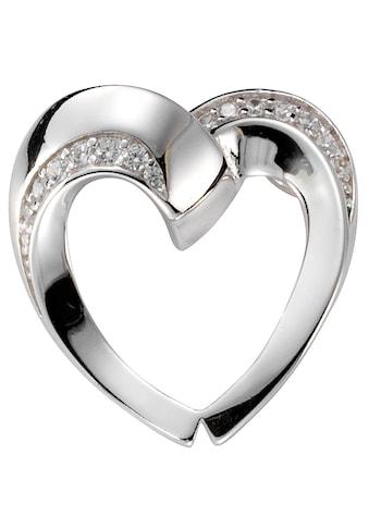 Firetti Kettenanhänger »Herz, rhodiniert, glanzvoll«, mit Zirkonia kaufen