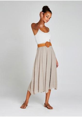 Apricot Crinklerock »Shimmer Crinkle Belted Skirt«, (mit abnehmbarem Gürtel), Mit... kaufen