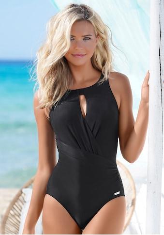 LASCANA Badeanzug, mit besonderem Ausschnitt und Shaping-Effekt kaufen