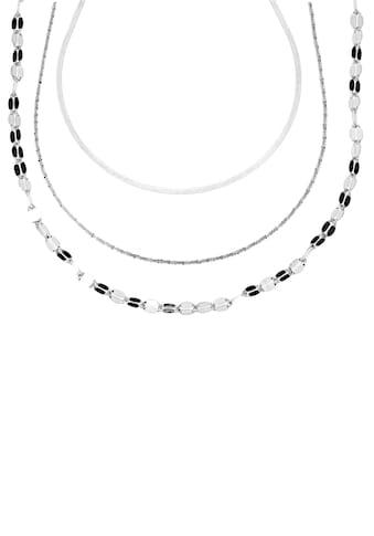Firetti Ketten-Set »Heringbone-, Criss-Cross- und Ankerkette«, (Set, 3 tlg.) kaufen