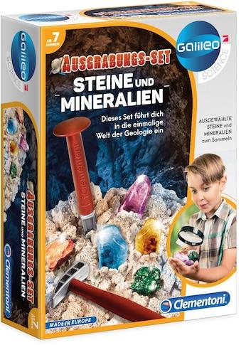 Clementoni® Experimentierkasten »Galileo, Ausgrabungs-Set - Steine und Mineralien«,... kaufen