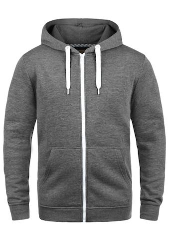 Solid Kapuzensweatjacke »Olli ZipHood«, Sweatshirtjacke mit kontrastfarbenen Reißverschluss kaufen