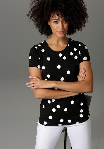 Aniston CASUAL T-Shirt, mit Punkten bedruckt kaufen