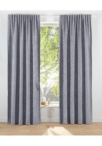 elbgestoeber Vorhang »Elbgarn«, blickdicht in Leinen Optik, Baumwolle, monochrom,... kaufen