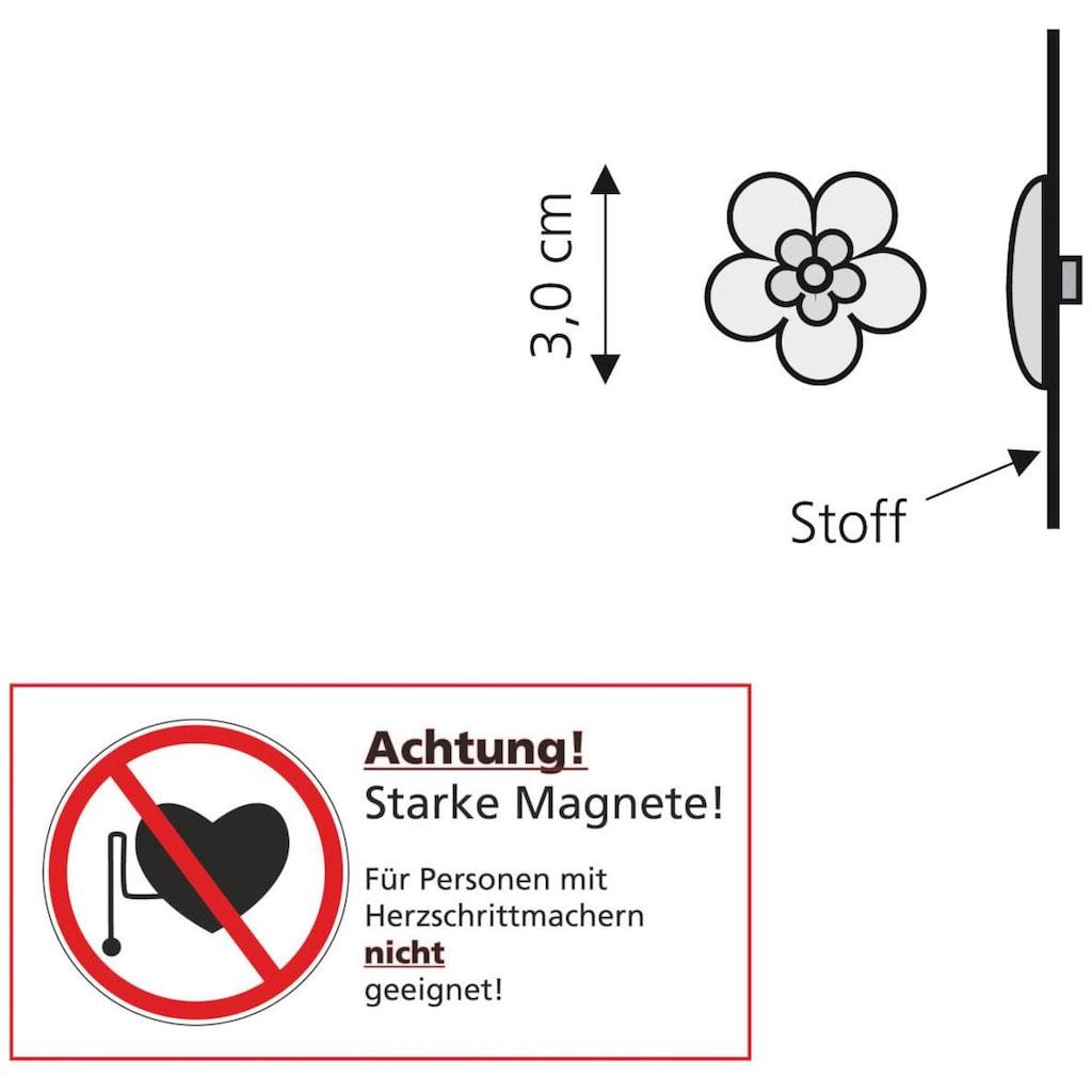 Liedeco Dekomagnet »Blume«, (1 St.), für metallische Flächen