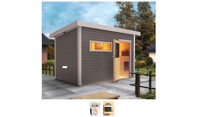 Karibu Saunahaus »Uwe 2«, 9-kW-Bio-Ofen mit ext. Steuerung kaufen