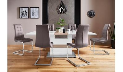 INOSIGN Essgruppe »Perez/Lola«, (Set, 5 tlg.), mit 4 Stühlen, Tisch ausziehbar, Breite... kaufen