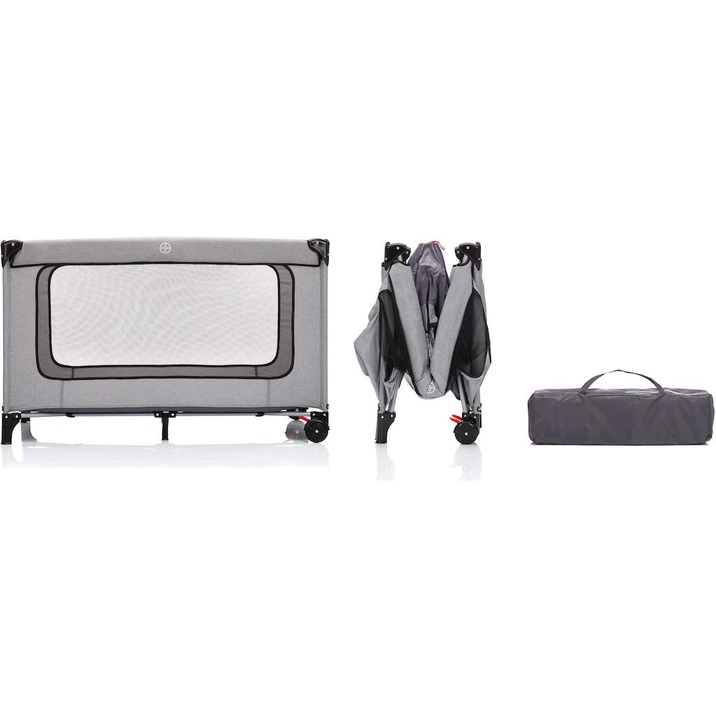 Fillikid Baby-Reisebett »Standard grau melange«, Inklusive Transporttasche