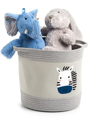 """Zeller Present Aufbewahrungskorb »Aufbewahrungskorb Zebra"""" Baumwolle/Polyester""""«, (1 St.) kaufen"""