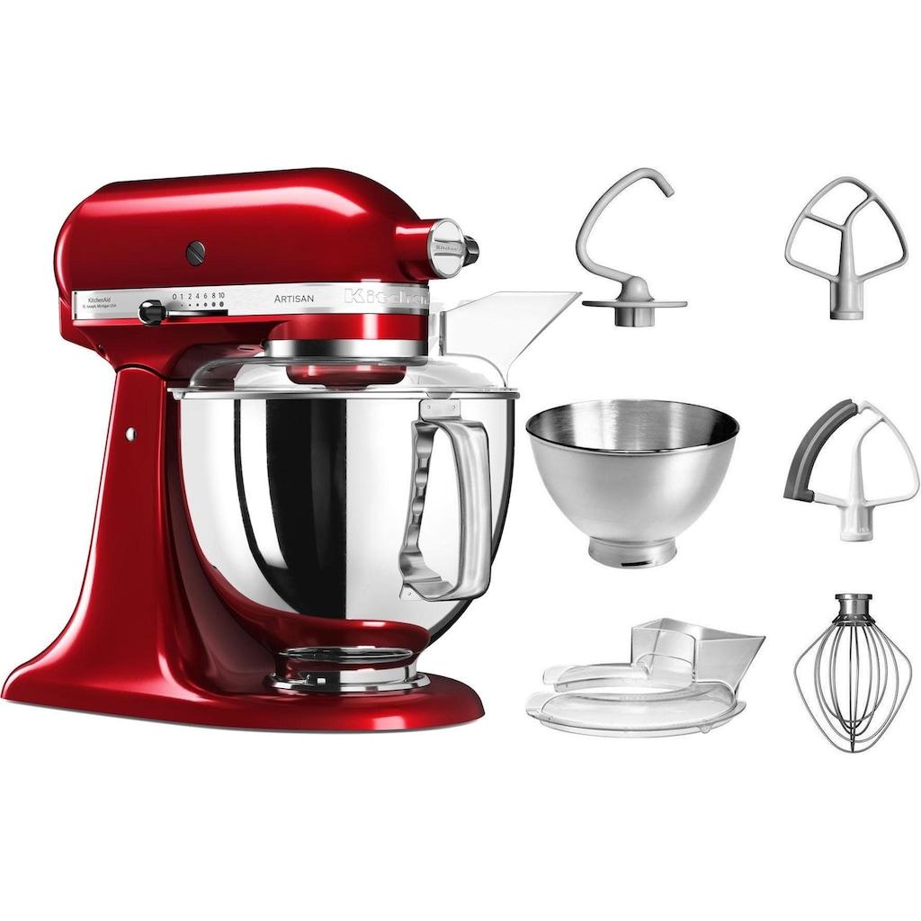 KitchenAid Küchenmaschine »Artisan 5KSM175PSECA liebesapfel-rot«, 300 W, 4,8 l Schüssel, mit Zubehör im Wert von ca. 112,-€ UVP