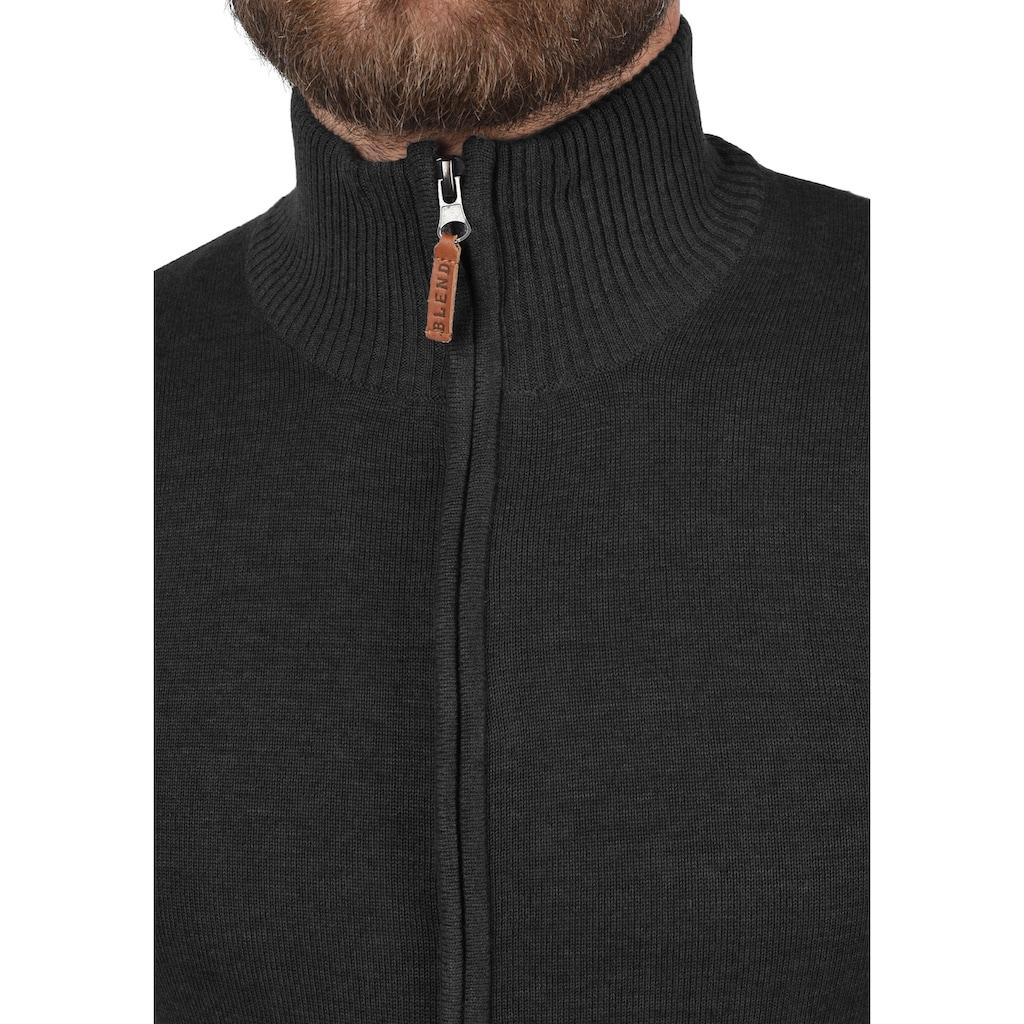 Blend Strickjacke »Norman«, Cardigan mit Reißverschluss