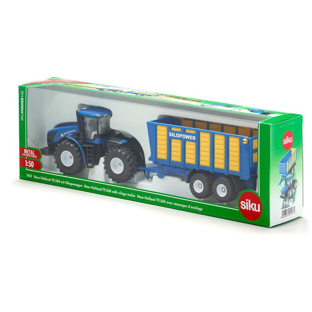 Siku Spielzeug-Traktor »SIKU Farmer, New Holland T mit Silagewagen«
