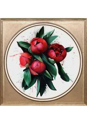 queence Acrylglasbild »Rote Blüte« kaufen