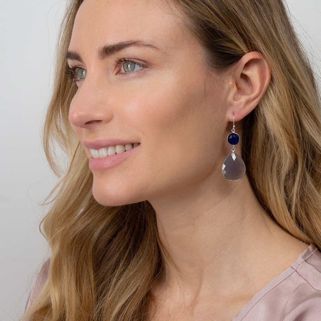 AILORIA Paar Ohrhänger »GENTIANE Ohrringe«, mit lolith und Chalcedon