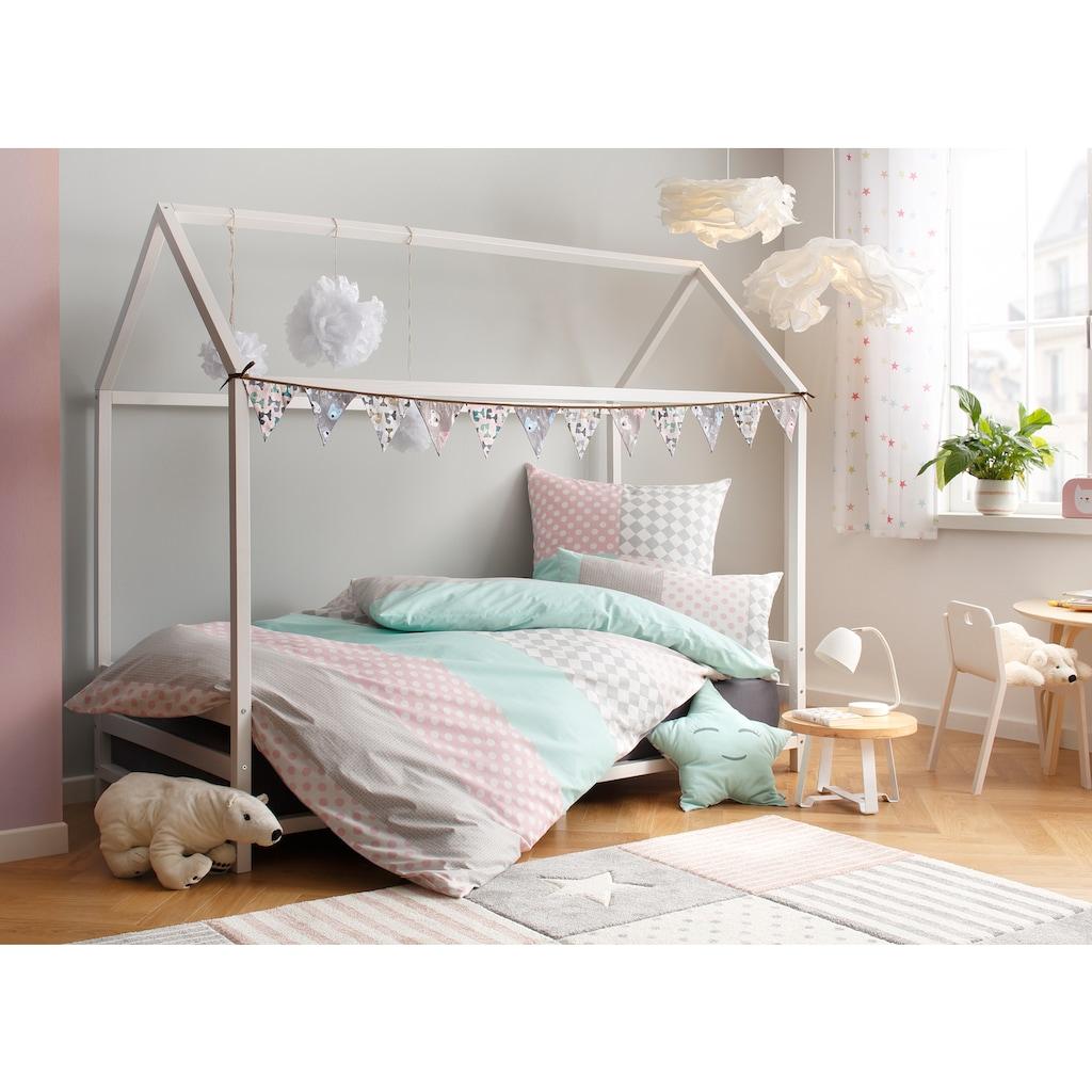 Lüttenhütt Kinderbettwäsche »Elli«, mit verspieltem Streifen-Muster