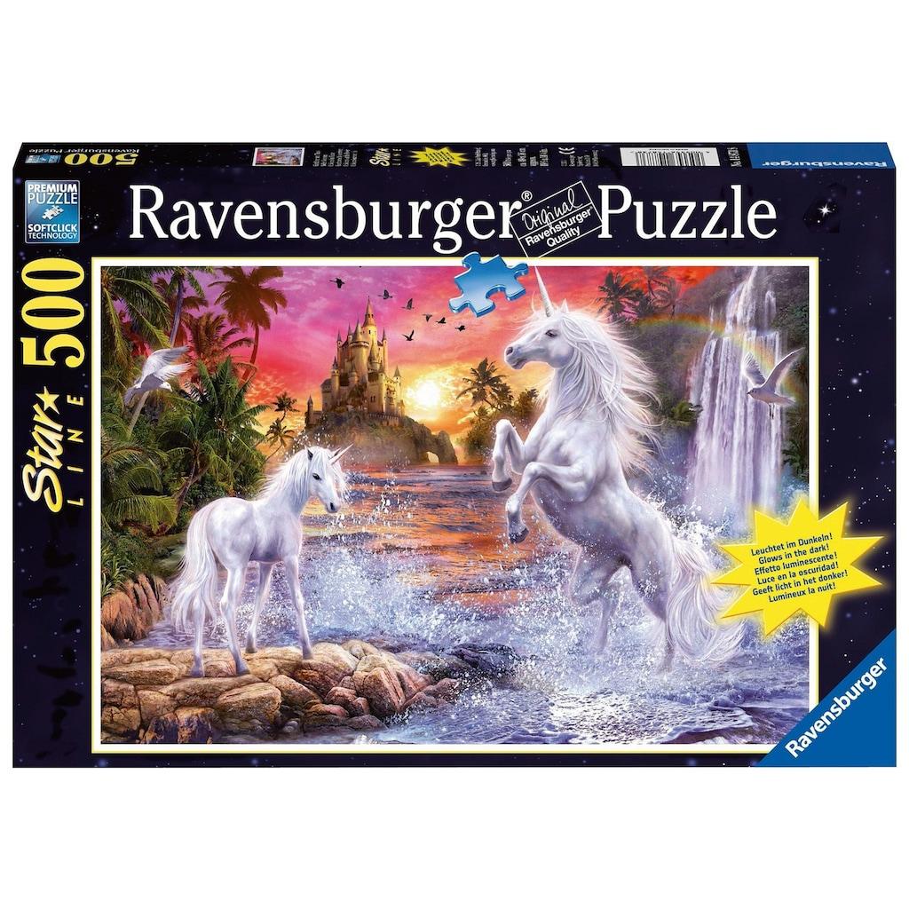 Ravensburger Puzzle »Einhörner am Fluss«, leuchtet im Dunkeln, Made in Germany, FSC® - schützt Wald - weltweit