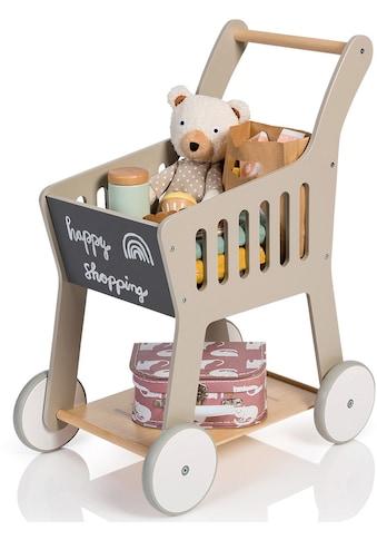 MUSTERKIND® Spiel-Einkaufswagen »Rubus, warmgrau/natur« kaufen