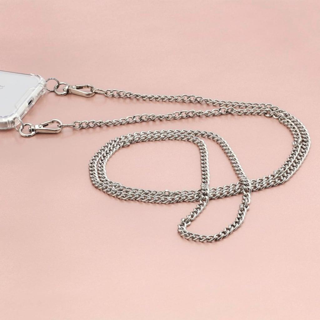 Hama Handykette »Umhängeband, Silber«, aus Kunstleder/ Metall für Cover