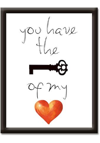Artland Wandbild »Schlüssel für mein Herz«, Sprüche & Texte, (1 St.) kaufen