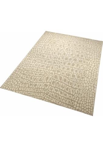 Wecon home Teppich »Croco«, rechteckig, 8 mm Höhe, Wohnzimmer kaufen
