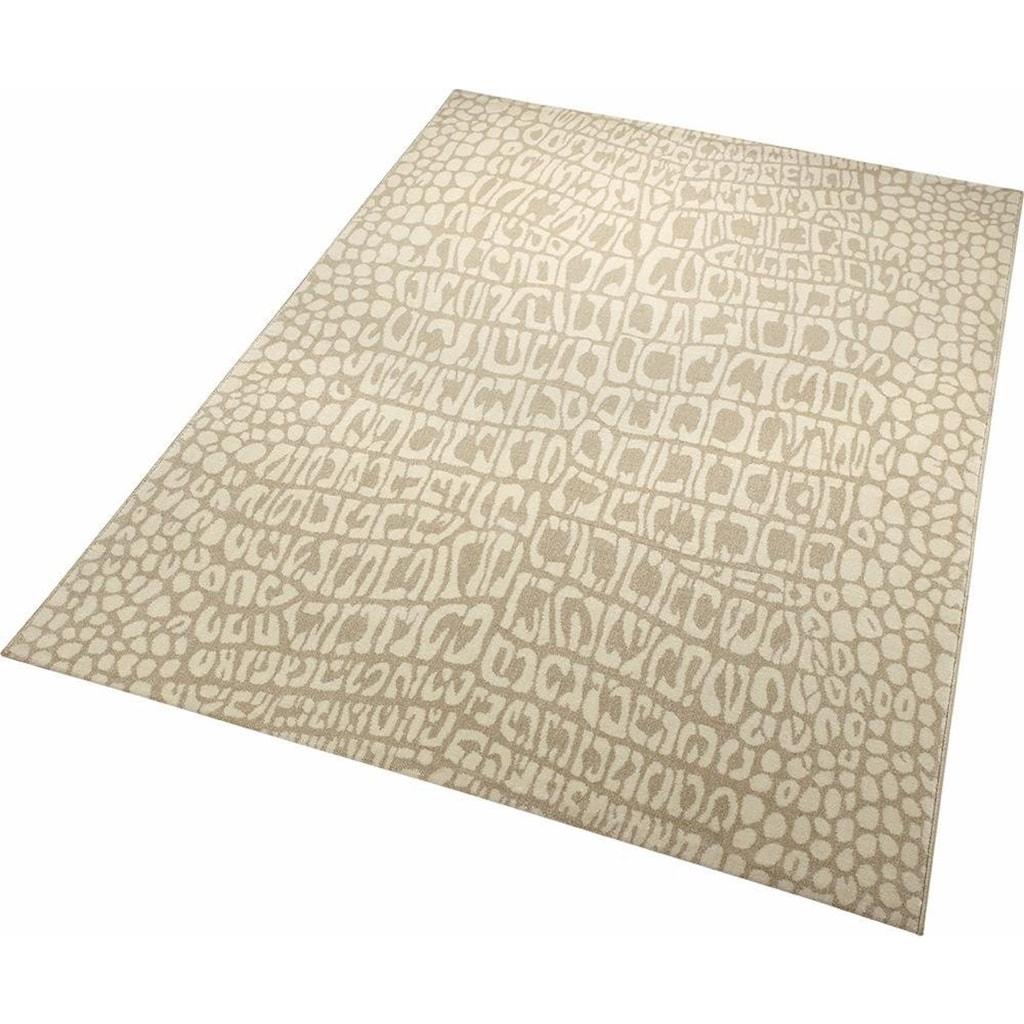 Wecon home Teppich »Croco«, rechteckig, 8 mm Höhe, Wohnzimmer