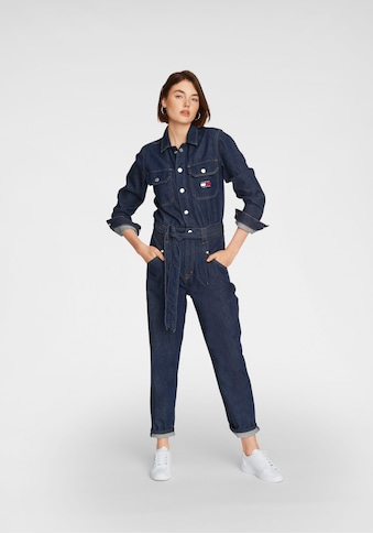 Tommy Jeans Overall »MOM JUMPSUIT UDBR«, mit Tommy Jeans Logo-Badge kaufen