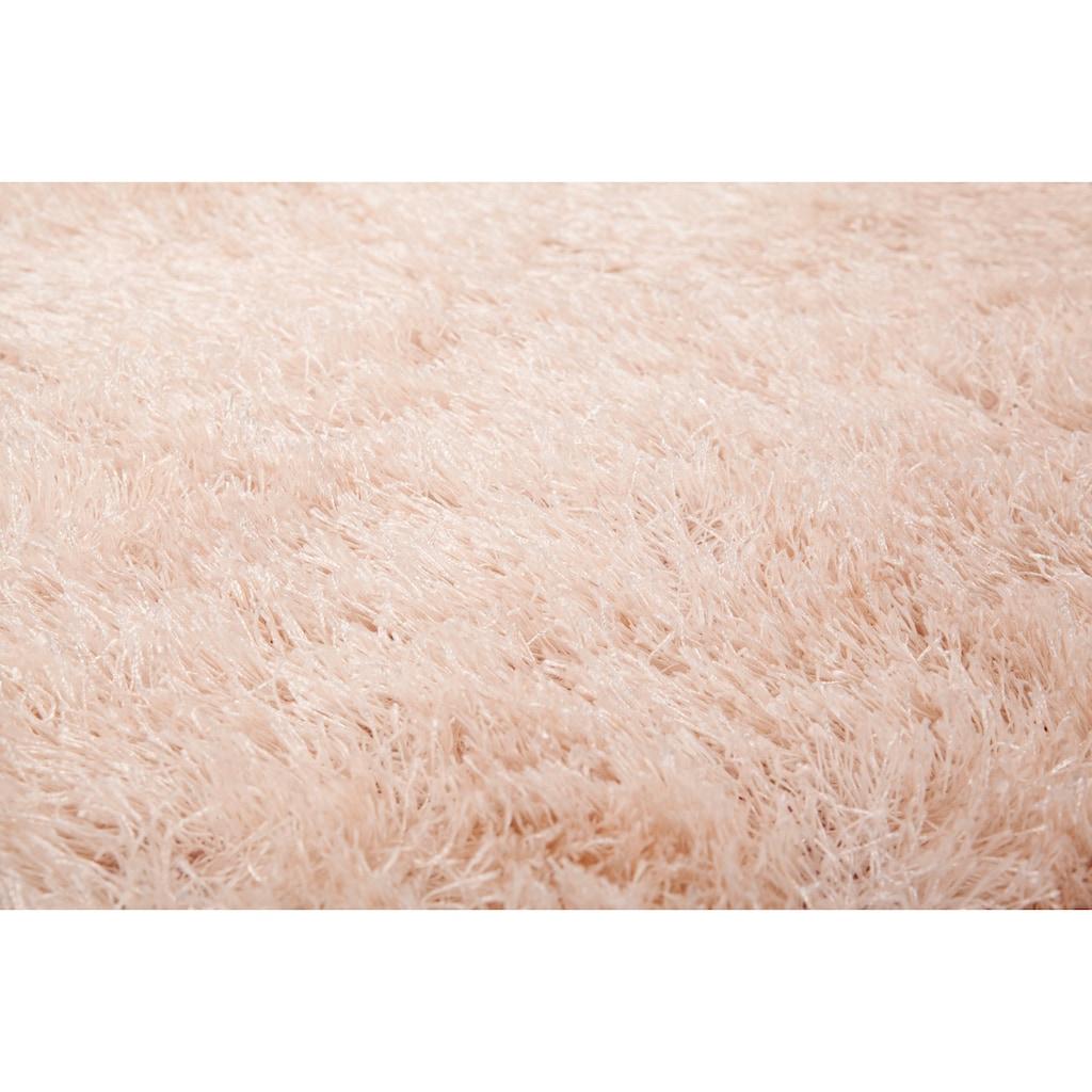 Kayoom Hochflor-Teppich »Diamond 700«, rund, 40 mm Höhe, besonders weich durch Microfaser, Wohnzimmer