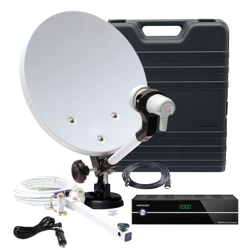 TELESTAR SAT-Receiver »Camping-Satanlage im Koffer mit HD 5 kompakt«, (WLAN), mit viel Zubehör