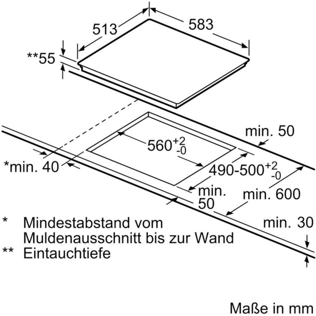 BOSCH Induktions Herd-Set »HND617LS65«, HEB517BS1, mit Backwagen