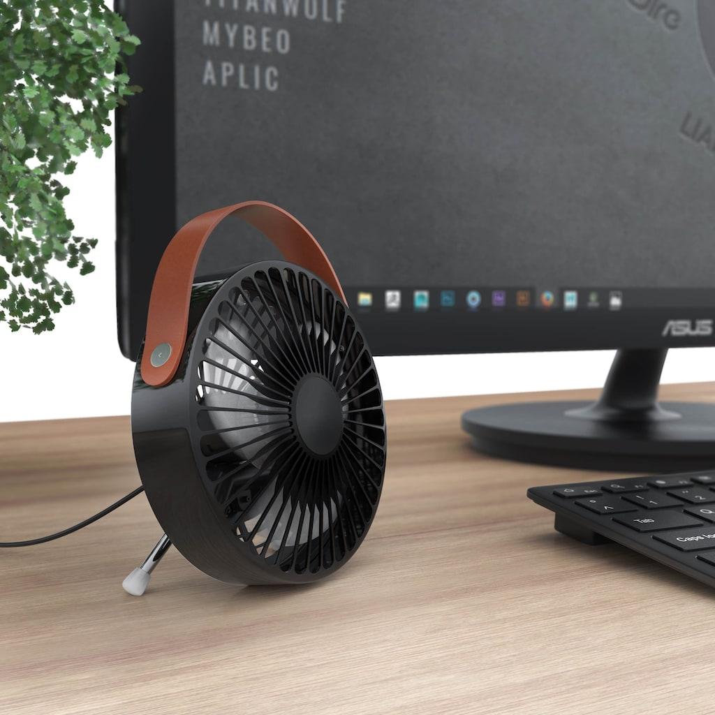 CSL USB Mini Ventilator mit ausklappbaren Standfüßen »Leiser Betrieb / Hoher Luftdurchsatz«