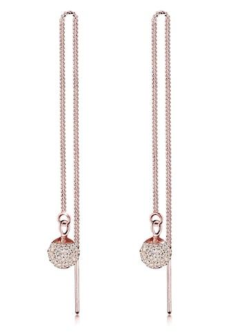 Elli Paar Ohrhänger »Hänger Durchzieher mit Kugel Swarovski® Kristalle« kaufen