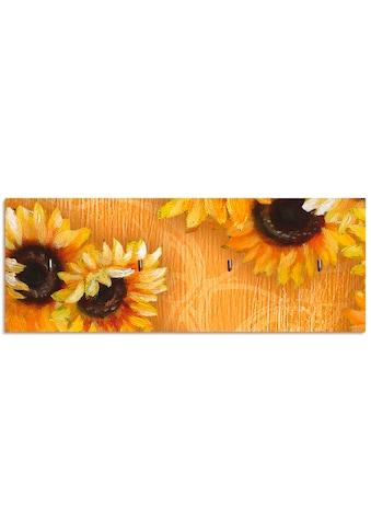 Artland Schlüsselbrett »Sonnenblumen«, aus Holz mit 4 Schlüsselhaken – Schlüsselboard,... kaufen