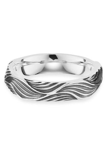CAÏ Fingerring »925/- Sterling Silber rhodiniert Wellen«, Ring kaufen