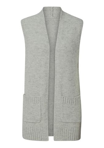 Classic Inspirationen Strickweste in modischer Longform kaufen