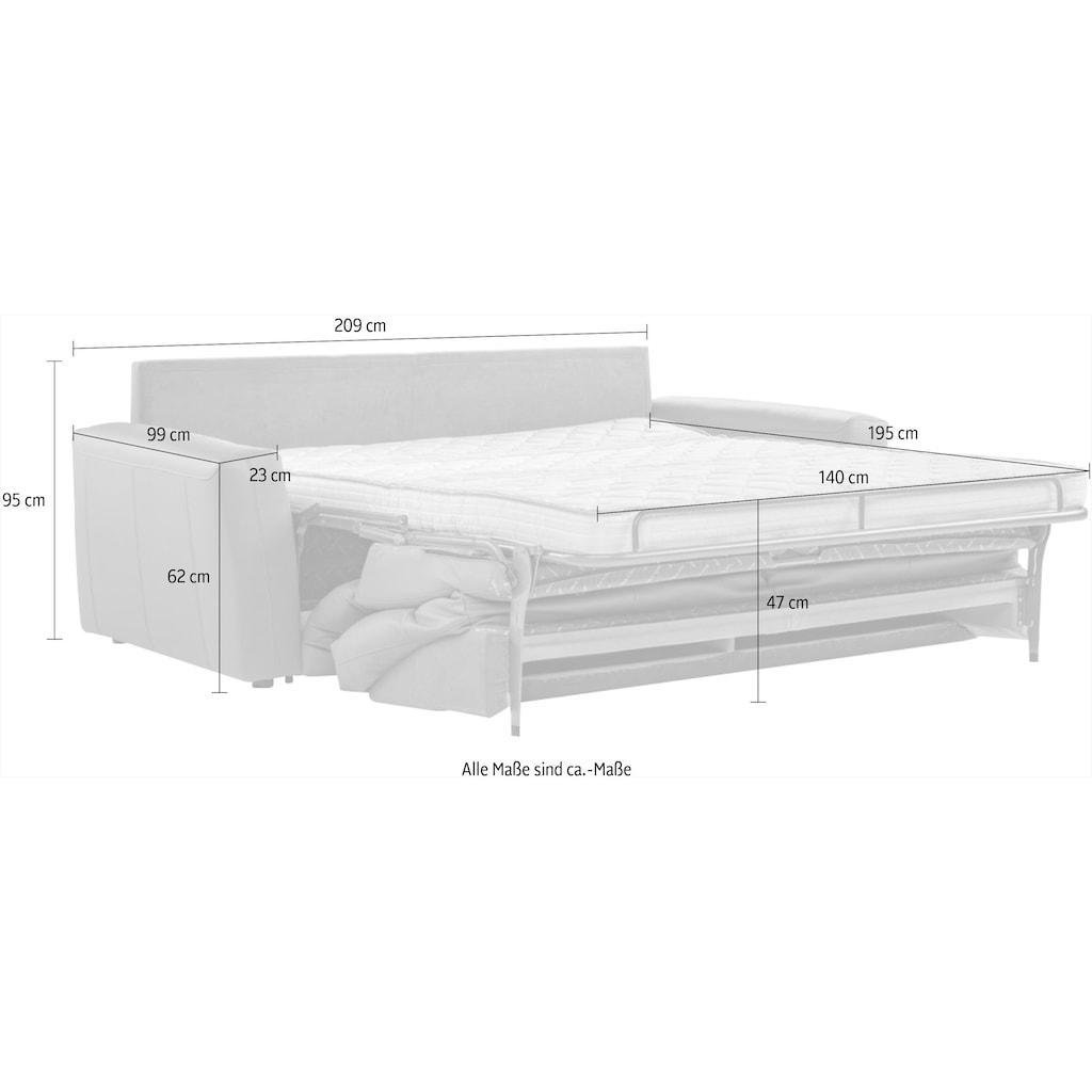 CALIA ITALIA Sofa »BULGARY«, Breite 209 cm wahlweise mit aufklappbare Bettfunktion