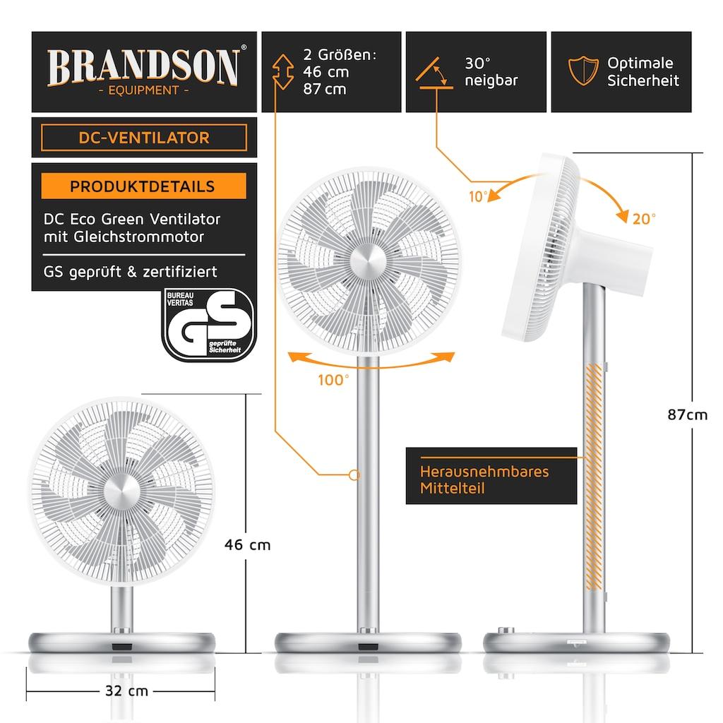 Brandson Standventilator »Standlüfter mit 46 - 85,5 cm Höhe«, 25 W mit DC Motor