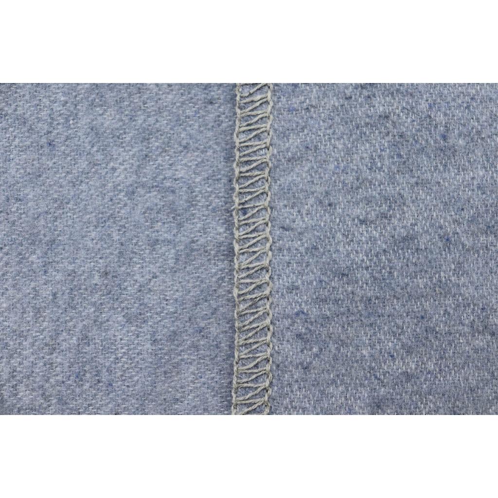 BIEDERLACK Wohndecke »Reused«, aus recycelten Jeans-Artikeln