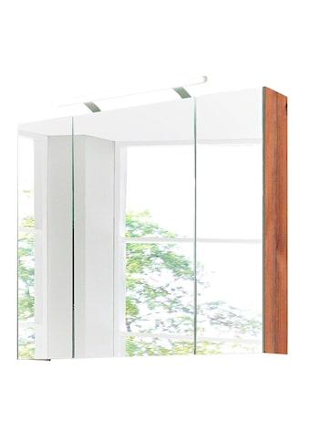 Schildmeyer Spiegelschrank »Isola«, Breite 80 cm, 3-türig, LED-Beleuchtung,... kaufen