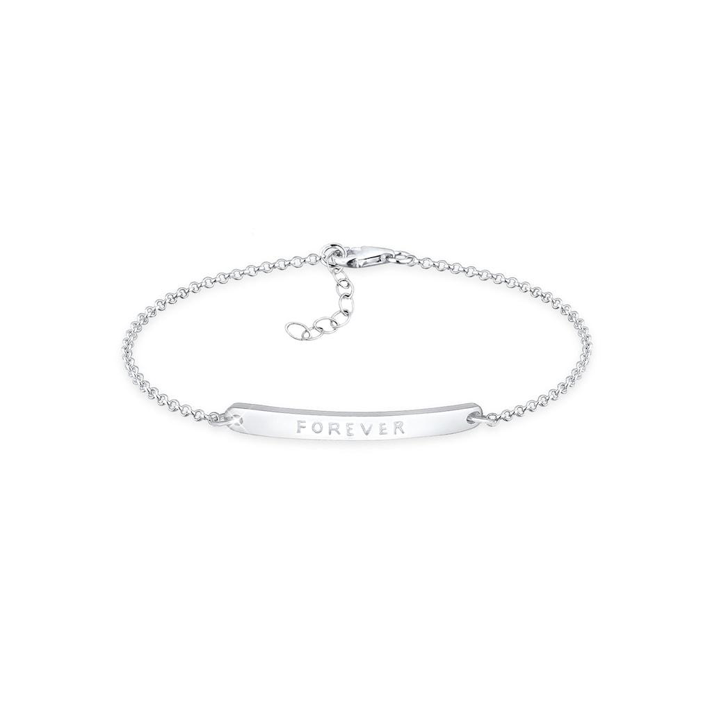 Elli Armband »Forever-Schriftzug 925 Sterling Silber«