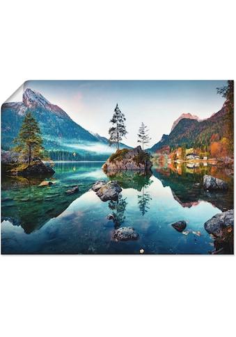 Artland Wandbild »Herbstszene des Hintersee vor Alpen«, Seebilder, (1 St.), in vielen... kaufen