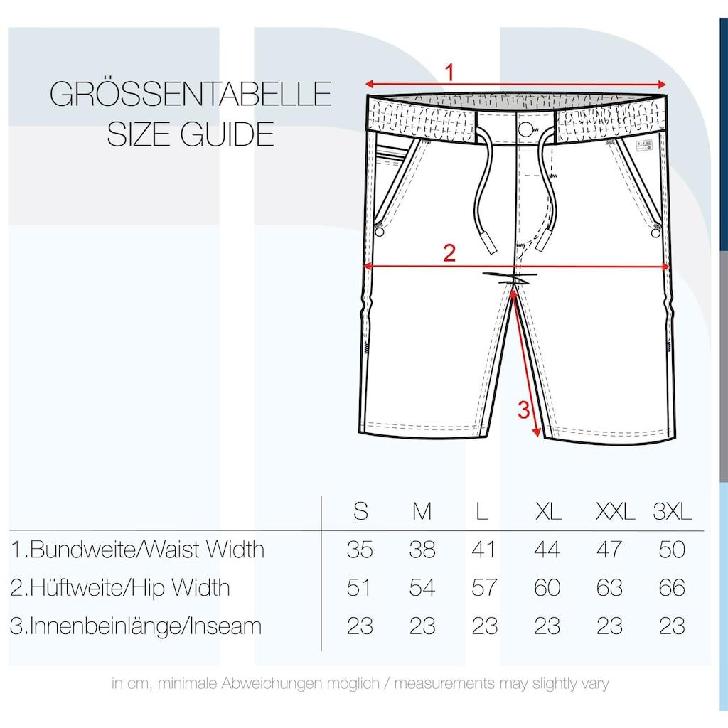 Blend Jeansshorts »Bartels«, kurze Hose mit elastischem Bund und Kontrastkordeln