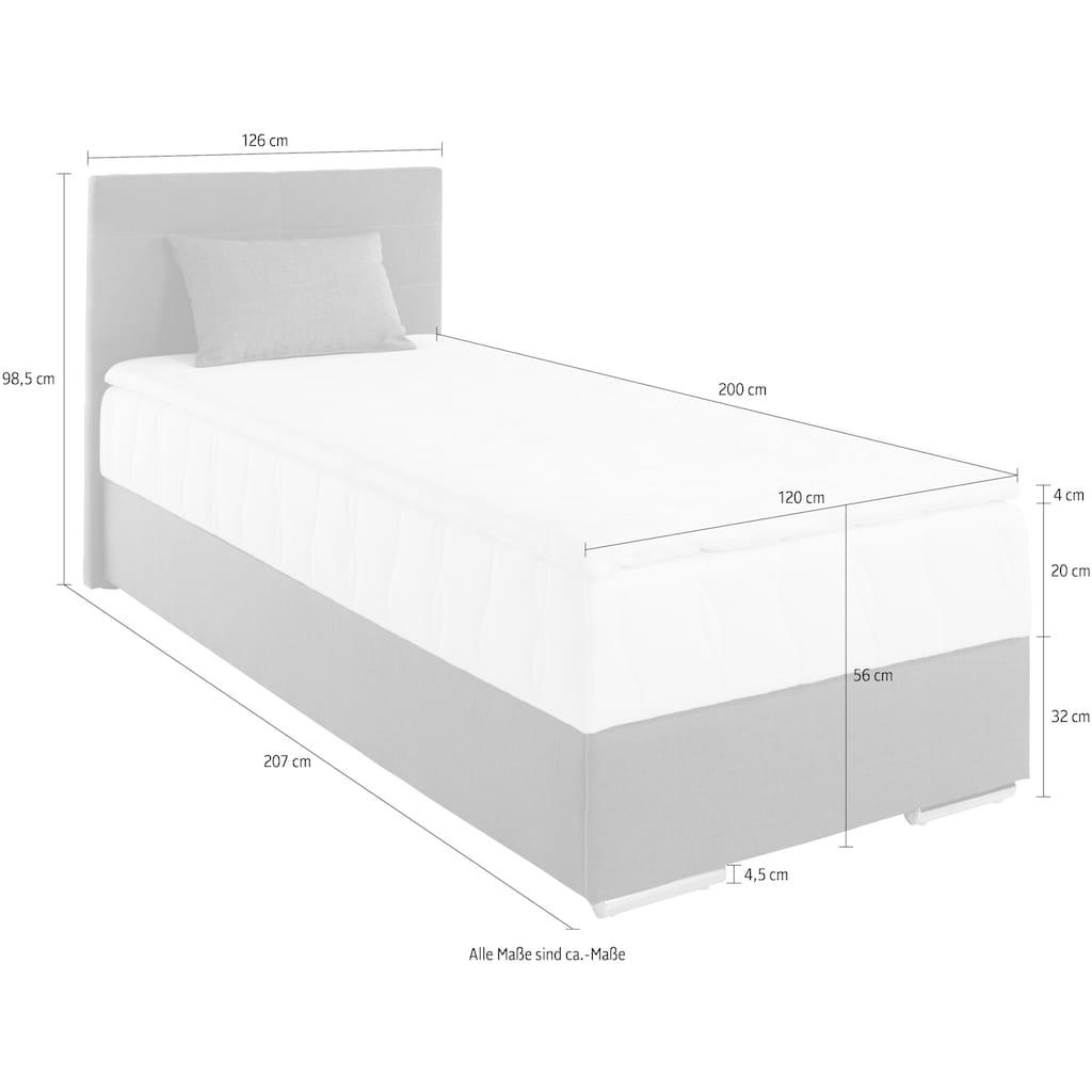 COTTA Boxbett »Tom«, (3 St.), mit Bettkasten, Topper und Zierkissen