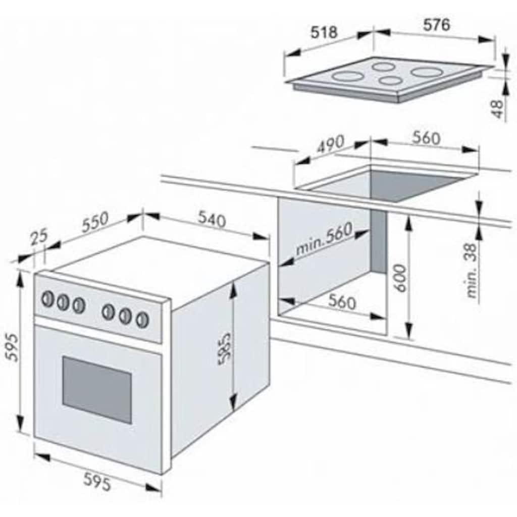 Amica Elektro-Herd-Set »EHC 12616 E«, RapidWarmUp-Funktion
